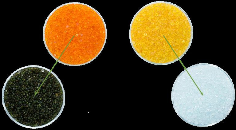 Zmiana koloru żelu krzemionkowego (silica gel)