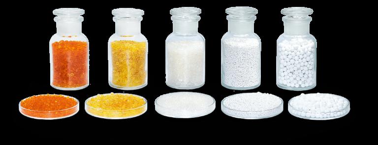 Silica gel (Silkażel) biały i ze wskaźnikiem oraz aktywny tlenek glinu