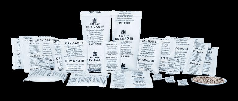 Saszetki pochłaniające wilgoć do paczek (glinka bentonitowa i silica gel)